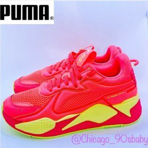 PUMA RS-X Soft Case NEON PinkYellow Shoes